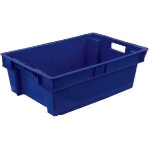 Ящик L 60см w 40см  h 20см, пластик синий