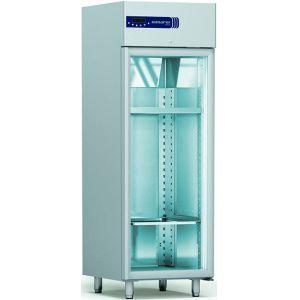 Шкаф для сухого созревания мяса,  605л, 1 дверь стекло, ножки, -2/+10C, дин.охл., нерж.сталь, 3 полки перфорированные, 3 пары направляющих, поддон