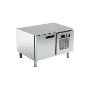 Стол холодильный низкий, L0.80м, без столешницы, 1 дверь глухая, ножки, +2/+10С, нерж.сталь, агрегат справа