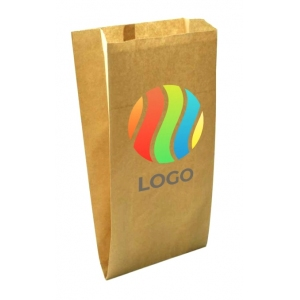 Пакет бумажный плоское дно крафт с ЛОГОТИПОМ