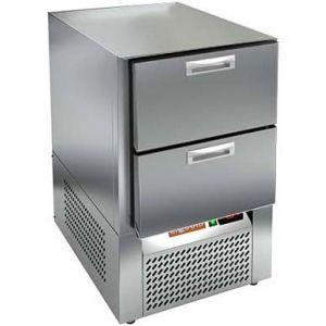 Стол холодильный, GN1/1, L0.57м, без столешницы, 2 ящика, ножки, -2/+10С, нерж.сталь, дин.охл., агрегат нижний