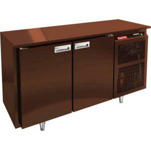 Стол холодильный, L1.39м, без борта, 2 двери глухие, ножки, -2/+10С, пластификат, дин.охл., агрегат справа