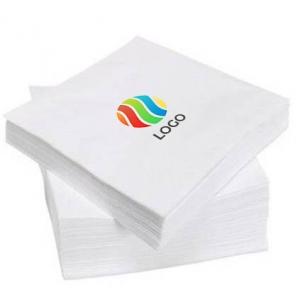 Салфетки бумажные однослойные 24х24см с ЛОГОТИПОМ