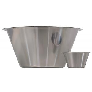 Емкость коническая D 13см h 7см 0,5л, нерж.сталь