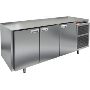 Стол холодильный, GN1/1, L1.84м, без столешницы, 3 двери глухие, ножки, -2/+10С, нерж.сталь, дин.охл., агрегат справа