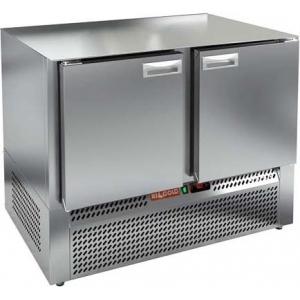 Стол морозильный, GN2/3, L1.00м, без столешницы, 2 двери глухие, ножки, -10/-18С, нерж.сталь, дин.охл., агрегат нижний