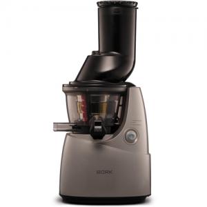 Соковыжималка для овощей и фруктов, электрическая, настольная, шнековая, 1 скорость, чаша для сока 1.4л, контейнер для жмыха 1.4л, пластик коричневый