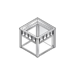Диспенсер для подносов квадратных, нейтральный, встраиваемый, нерж.сталь, линия GISELF Interior