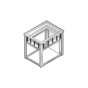 Диспенсер для подносов прямоугольных, нейтральный, встраиваемый, нерж.сталь, линия GISELF Interior