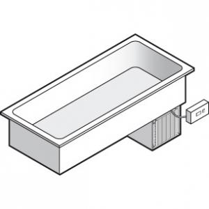 Ванна холодильная встраиваемая, L0.80м, -1/+5С, нерж.сталь, дин.охл., 2GN1/1, выносной пульт упр., линия GISELF Interior