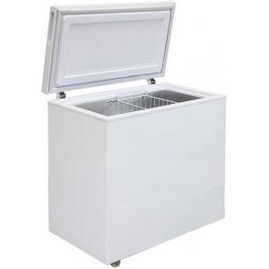 Ларь морозильный, 200л, 1 крышка глухая плоская распашная, -18С, 1 корзина, колеса, белый, стат.охл., R600a