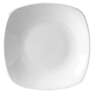 Тарелка мелкая L 18см w 18см MONACO WHITE цвет белый, фарфор