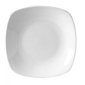 Тарелка мелкая L 23см w 23см MONACO WHITE цвет белый, фарфор