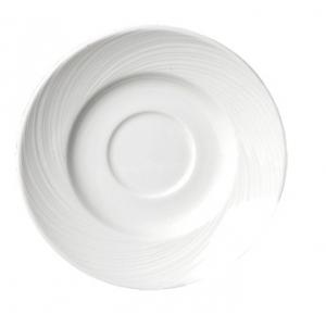Блюдце D 15,5см SPYRO цвет белый, фарфор