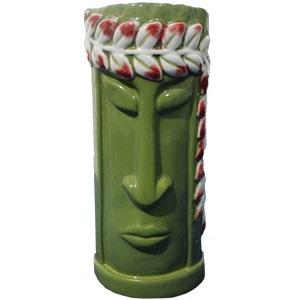 Стакан для коктейлей 350мл D 6,6см h 15,4см Tiki, керамика зеленая