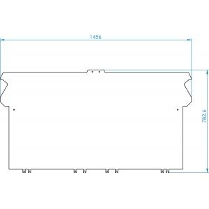 Заглушка боковая плоская, для двух напольных модулей серии 700 «спина к спине», нерж.сталь