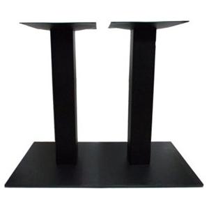 Подстолье металлическое регулируемое, черный шагрень, 2 трубы, для столешницы 1400х800мм
