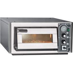 Печь для пиццы электрическая, подовая, 1 камера  370х401х148мм, 1 пицца D350мм, электромех.управление, дверь стекло, под камень