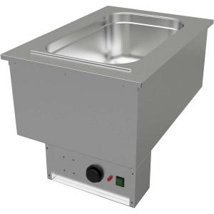 Мармит электрический встраиваемый, L0.44м, 1GN1/1, паровой нагрев, б/полки, нерж.сталь