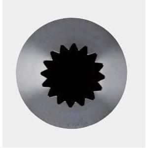 Насадка на кондитерский мешок ЗВЕЗДА D 1,75см h 4,8см 18 зубцов, нерж.сталь