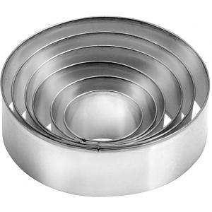 Кольцо (форма) КРУГ D 23см h 4,5см, с отбортовкой, нерж.сталь