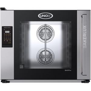 Печь электрическая конвекционная,  6х(600х400мм), управление электронное LED, корпус нерж.сталь, увлажнение, дверь левая, замок мех.