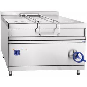 Сковорода электрическая опрокидываемая, 120л, ручное опрокидывание, нерж.сталь, задняя обшивка краш.сталь, 900 серия