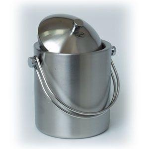 Емкость для льда и охлаждения бутылок D 11,5см h 17см с крышкой (щипцы в комплекте), нерж.сталь