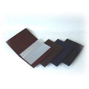 Папка (меню) L 32см w 22,5см двусторонняя коричневая, кожезаменитель