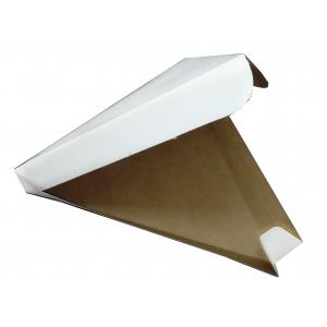 Коробка для пиццы треугольная 260х260х240x40мм картон белый