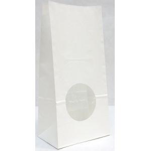 Пакет бумажный двухслойный 250х120х80мм с окном прямоугольное дно белый