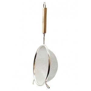 Дуршлаг сетчатый D 16см сферический с деревянной ручкой, металл