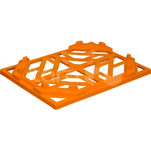 Крышка для ящика L 40см w 30см, пластик оранжевый