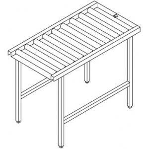 Стол выходной для машин посудомоечных VX, L2.10м, без борта, без полки, 4 ножки, роликовая поверхность
