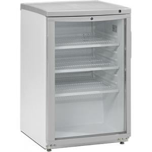 Шкаф холодильный д/напитков (минибар),  92л, 1 дверь стекло, 3 полки, ножки, +2/+10С, стат.охл., белый, R600a