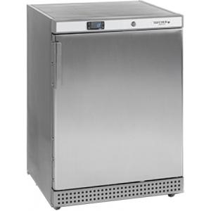 Шкаф холодильный,  130л, 1 дверь глухая, 3 полки, ножки, +2/+10С, стат.охл.+вент., нерж.сталь, R600a