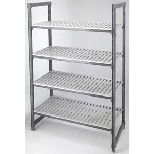 Стеллаж кухонный Elements стационарный, 1070х460х1630мм, 4 полки перфорированные, композиционный материал, разборный, макс. нагрузка 1450кг (Без ориги