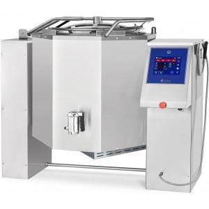 Котел пищеварочный электрический, опрокидывание автоматическое, 250л, нагрев косвенный, корпус нерж.сталь, миксер, сливной кран