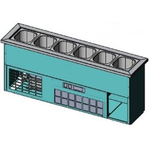 Ванна холодильная встраиваемая, L1.07м, 6GN1/6, +2/+10С, стат.охл., нерж.сталь