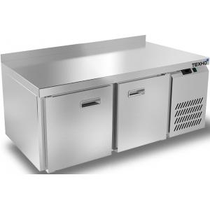 Стол холодильный низкий, GN2/3, L1.39м, борт, 2 двери глухие, ножки, -2/+10С, нерж.сталь, дин.охл., агрегат справа