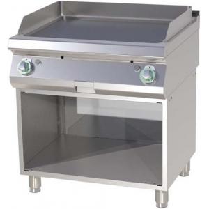 Гриль-сковорода газовая, 2 зоны, поверхность гладкая стальная, стенд полузакрытый без дверей, пьезоподжиг, магистральный газ
