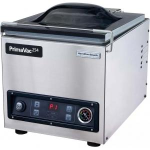 Машина для вакуумной упаковки, настольная, 1 камера 285х345х142мм, электронное управление, 1 шов 254мм, насос 8м3/ч, 10 программ