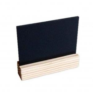 Ценник меловой L 7,4см  Н 7,2см глубина 1,9см на деревянной подставке, ПВХ (3мм)
