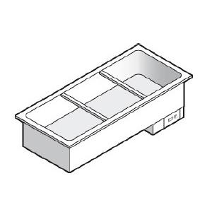 Мармит электрический, L1.12м, 1 ванна 3GN1/1, встраиваемый, паровой