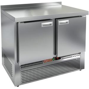 Стол морозильный, GN1/1, L1.00м, борт H50мм, 2 двери глухие, ножки, -10/-18С, нерж.сталь, дин.охл., агрегат нижний, задняя стенка нерж.сталь