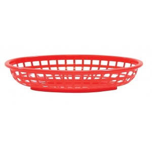 Корзина L 24см w 15см h 5см овальная, пластик красный