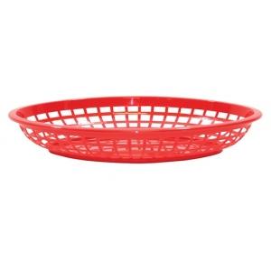 Корзина L 30см w 23см h 5см овальная, пластик красный