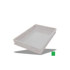 Ящик L 60см w 40см h 7,5см сплошной, пластик зеленый