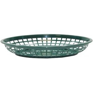 Корзина L 30см w 23см h 5см овальная, пластик зеленый