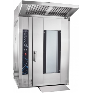 Печь электрическая конвекционно-ротационная, 1 тележка 16GN2/1 или 16х(600х400мм), управление сенсорное, корпус нерж.сталь, увлажнение, зонт вытяжной